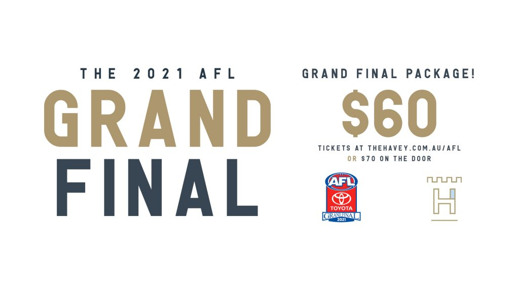Havey's AFL Grand final 2021 - Get Tickets